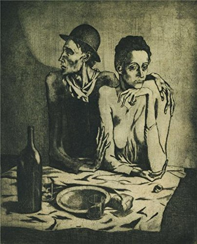 [The Perfect Effect Canvas Of Oil Painting 'Pablo-Picasso,Le Repas Frugal,1904' ,size: 20x25 Inch / 51x63 Cm ,this Vivid Art Decorative Canvas Prints Is Fit For Living Room Decoration And Home Gallery Art And] (Party City Costumes Coupons)