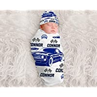 Baby Boy Personalized Cars Blanket Personalized Swaddle Blanket Monogram Baby Blanket Baby Boys Muscle Cars Classic