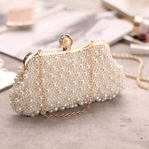 HZYDD New Pearl Evening Bag Women's Clutch Bag Cross-border Supply Evening Bag Diagonal Small Square Bag Beautiful Life