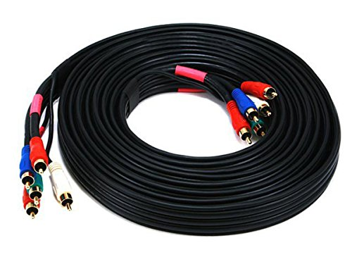 Monoprice 15ft 22AWG 5-RCA Component Video/Audio Coaxial Cable (RG-59/U) - Black