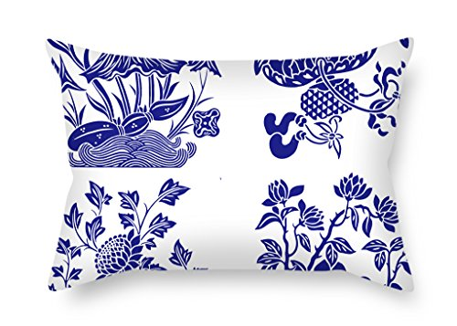 Artistdecor 12 X 20 Inches / 30 By 50 Cm Chinese Style Blue And White Porcelain Pillow Shams,two Sides Is Fit For Birthday,valentine,home Theater,outdoor,indoor ()