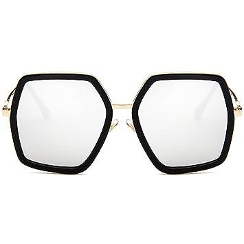 Amazon.com: Hukai 2018 New Colorful Polygon Large Frame Sunglasses ...