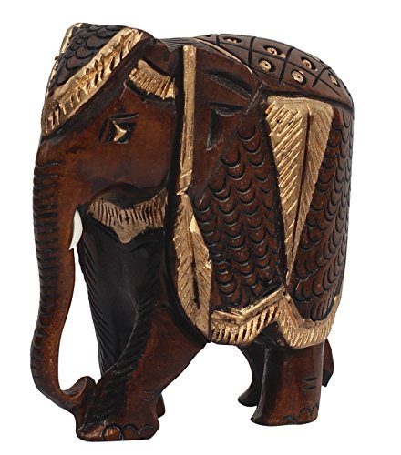 Best Gifts Wooden Elephant Statue Thai Elephant Decor Statue Feng Shui Collectible Animal