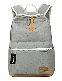 Tibes canvas school backpack for girl/women