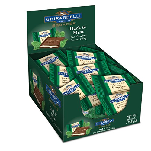 Dark Chocolate Mint Squares (Ghirardelli Dark & Mint Squares Caddy, 50 Count)
