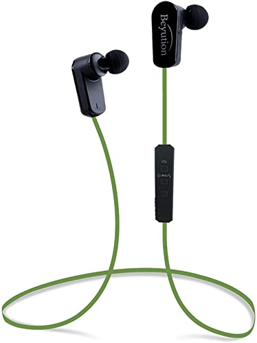 Beyution New Sports Hi-fi Bluetooth 4.1 Headphones – Mini Lightweight Wireless Stereo Sports Running Bluetooth Earbuds Headphones Headsets Built in Mic-Phone 508s-v4.1-Green