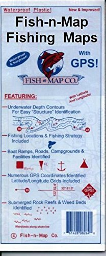 Trinity Lake & Whiskeytown Lake Fishing Map, California