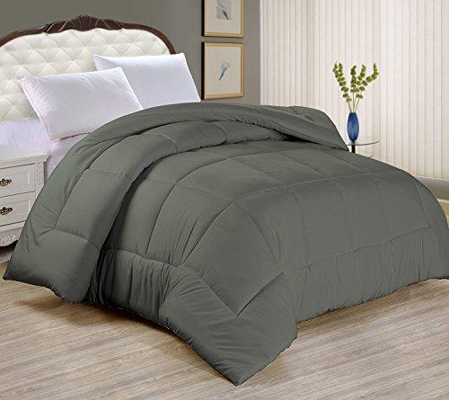 Night Guard - Goose Down Alternative Comforter - Ultra Soft, (Slate Gray 50 Sheet)