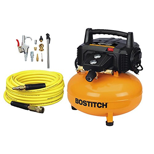 BOSTITCH BTFP02012-WPK 6-Gallon 150 PSI Oil-Free Compressor Kit by BOSTITCH