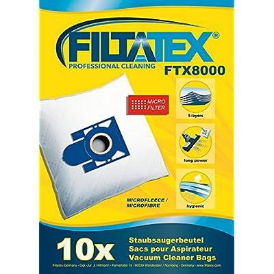 10 x FILTATEX (P) Sacs aspirateur Eio BS58/8 / eio bs 58/8 - eio bs 58 8 air box