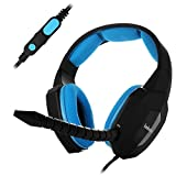 Shunyinda Gaming Headset for Ps4, Xbox One, PC,Phone,With Detachable MIC,Alternative Leather Earcap