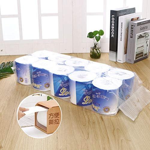 Papier Rouleau 3 Plis Papier Rouleau Creux 10 Rouleaux essuie-Tout en Rouleau MYSY Papier Rouleau de Papier hygi/énique pour h/ôtel