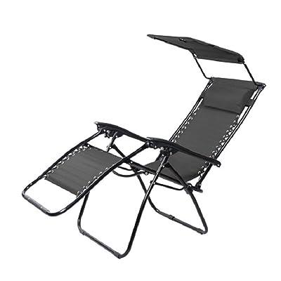 Chaise Pliante Siges De Pche Avec Ombre Pour Adultes Plage Chasse En Plein Air Camping Lounge Hold 120 Kg Noir
