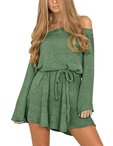 Belt Sweater Dress - 7