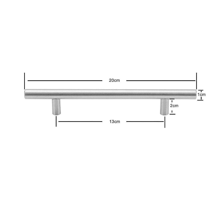 GuanHeag Home 22 x T-förmige Türgriffe aus Edelstahl, für ...
