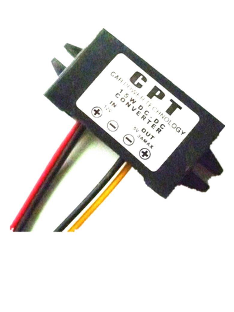 Autek DC/DC Convertisseurs électriques Converter Regulator 12V to 5V 3A 15W Car Led Display Power Supply Module DCCON-C3A
