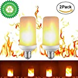 #4: 4Pack Flame Light Bulbs,3 Modes Creative LED Flame Effect Light Bulb Flickering Emulation Lamps E26/E27 Simulated Nature Fire for Party Birthday Festival Christmas Decoration