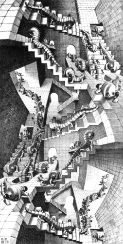 M C Escher 'House of Stairs' Vintage Wall Art