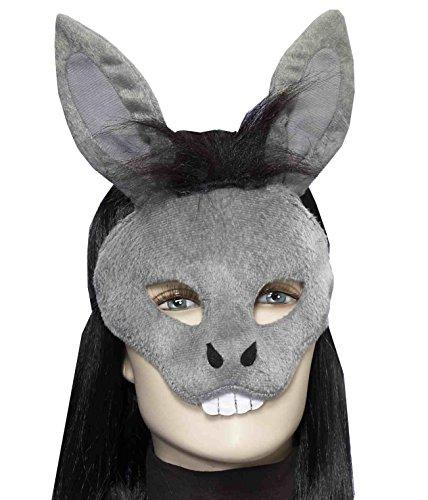 Forum Novelties Men's Plush Donkey Mask, Gray, One Size for $<!--$13.99-->