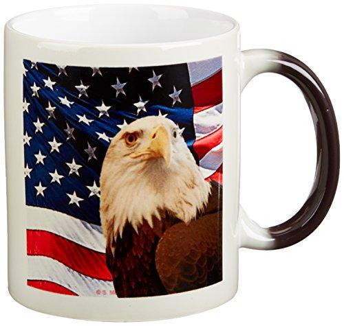 3dRose Eagle American Transforming 11 Ounce
