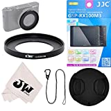 5in1 Accessories Kit for Sony RX100 V IV III II (RX100 & RX100M2 M3 M4 M5) : 52mm Filter Adapter+ Glass Screen Protector + 52mm Lens Cap Protector + Lens Cap Hook Keeper + Microfiber Cleaning Cloth