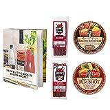 Bloody Mary Garnishing Kit - 2x Demitri's Flavored Rim Salt (Spiced Salt & Bacon Salt) -2x Benny's Snack Straws - Pack of 5 (Original & Chipotle) W/Recipe Booklet