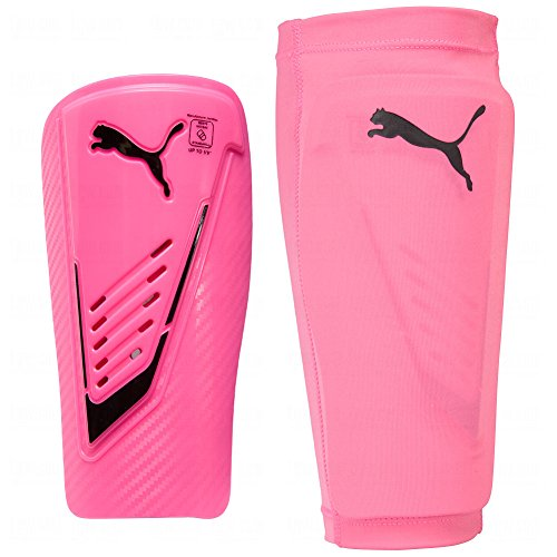 Carbon Carbon Fiber Shin Guard (Puma Power Protect Shin Guard W/Sleeve Large Pink)
