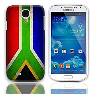 Zaki-Vintage The Flag of South Africa Pattern Hard Case with 3-Pack Screen Protectors for Samsung Galaxy S4 I9500