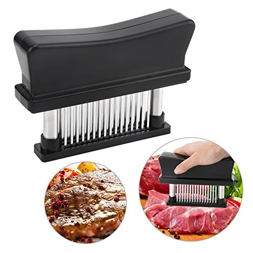 Meat Tenderizer Marinade by MeatZero with 48 Blades - Meat Tenderizer Power for Beef Pork , Chicken , Veal , Venison , Steaks , Poultry - Meat Tenderizer Roller - Meat Tenderizer Blade