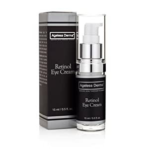 Ageless Derma Retinol Under Eye Wrinkle Cream. An Anti aging Night Cream by Dr. Mostamand to Diminishes Wrinkles, Dark Circles and Puffy Eyes