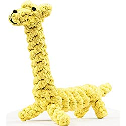 oneisall Dog Toys Pet Cotton Chew Rope Toy Dental Teaser Teeth Cleanning for Small Dog Puppy Biting (Graffie)