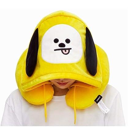 Amazon com: YIAI Kpop BTS BT21 Hoodie Neck Pillow Bangtan