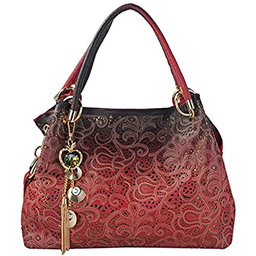 7aae01b78640 ... Sale On Shopping Red. Tinksky Tote Handbag Womens Shoulder Bag Casual  Signature Printing Pu Leather Tote