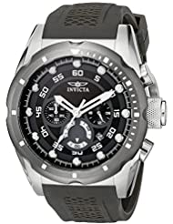 Invicta Mens 20311 Speedway Stainless Steel Watch with Black Band