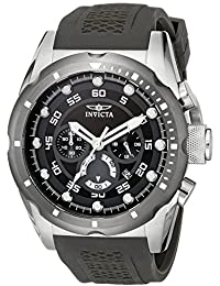 Men's 20311 Speedway Stainless Steel Watch with Black Band