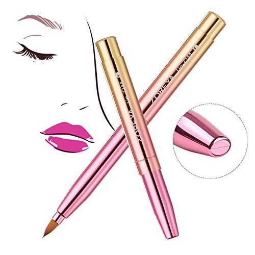 Lip Brush Retractable Tools Lip Punch Applicators Liner With Cap Makeup Brush For Lip Palette Lipstick(pink)