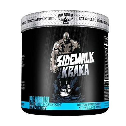 Sidewalk Kraka | Iron Addicts | Pre-Workout Formula | Formulated By CT Fletcher (30 Servings, Blue MuthaFuckin' Raspberry)