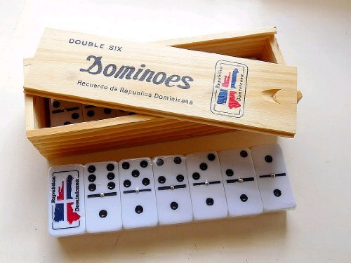 Dominican Republic Country Flag Engraved Dominoes Double Six (Republic Country Flag)