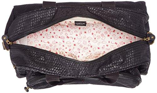 Kipling - CAMAMA - Bolsa para bebés - Cherry Pink C - (Rosa) Negro (Black Scale Emb)