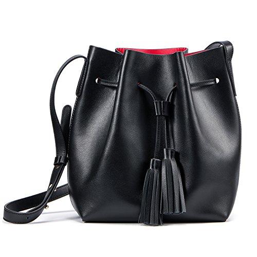 Leather Drawstring Crossbody Bag: Amazon.com
