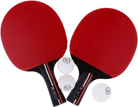 MagiDeal 2 Piezas de Raquetas de Tenis de Mesa Ping Pong Palo ...