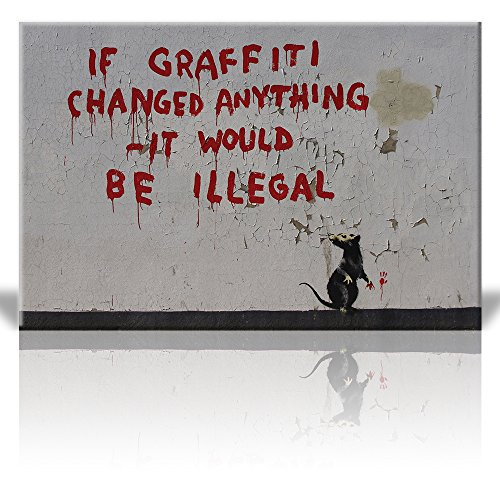 Wall26 - Canvas Print Wall Art - If graffitti changed anythi