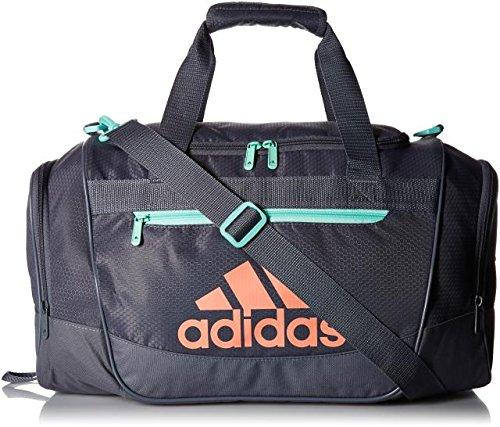 adidas Women's Defender III small duffel Bag, Green/Chalk Coral, One Size (Adidas Womens Green)