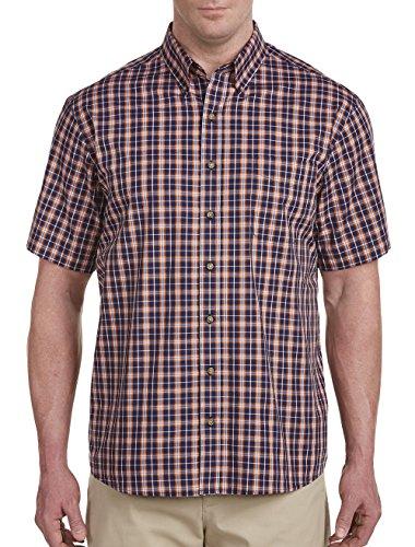Harbor Bay DXL Big Tall Easy-Care Small Plaid Sport (Bay Plaid Shirt)