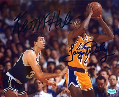 Boston Celtics Photograph Mchale - James Worthy Los Angeles Lakers and Kevin McHale Boston Celtics Dual Signed Autographed 8