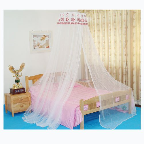 Dealzip Inc Excellent Bed Canopies, Bed Canopies White Luxury Lace Sequined Curtain Dome Princess Mosquito Net Bed Net Bed Canopy