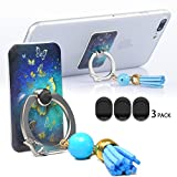 Phone Grip Car Mount/Stand/Holder/Kickstand,Tassels Smartphone Ring Mount 360 Rotate Anti Drop Reusable Phone Case Stand For iPhone iPad Mini Galaxy Tablets HTC Sony Lg Pixel Etc butterfly-2