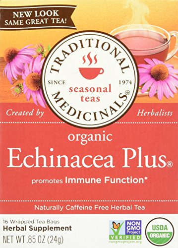 032917000514 - Traditional Medicinals Organic Echnicea Plus, Wrapped Tea Bags, 0.85 Ounce carousel main 0