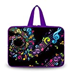 OHS17-016 New Fashion Arts Design music note 16''/ 16.5''/ 17'' / 17.3''/17.4'' inch Netbook Tablet Laptop soft Neoprene Sleeve bag Case Carrying cover pouch Holder Protection with Outside Handle for 17'' Apple Macbook Pro / SONY VAIO E17 / 17.3'' HP ZBook 17 /