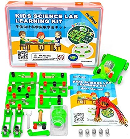 Kit de aprendizaje de ciencias OSOYOO, conjunto de experimentos de electricidad y magnetismo, circuitos de construcción, para estudiantes en los grados 3-9 (kit de laboratorio avanzado: Amazon.es: Oficina y papelería